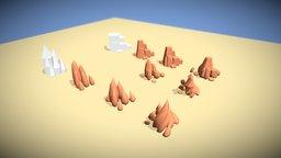 Desert Rocks Study 3D Model