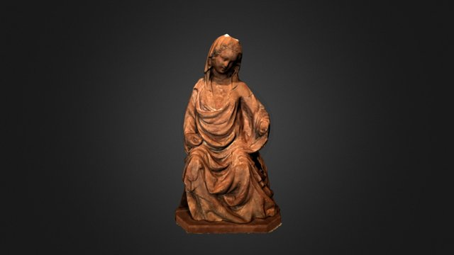 Enthroned Virgin 3D Model