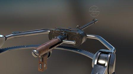 """Maschinengewehr  """"MG 15"""" 3D Model"""