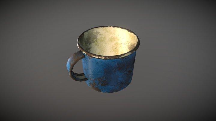 Old Metal Cup 3D Model