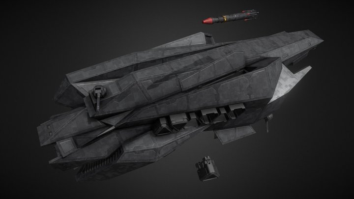 Amun-Ra Class Stealth Ship [The Expanse] 3D Model