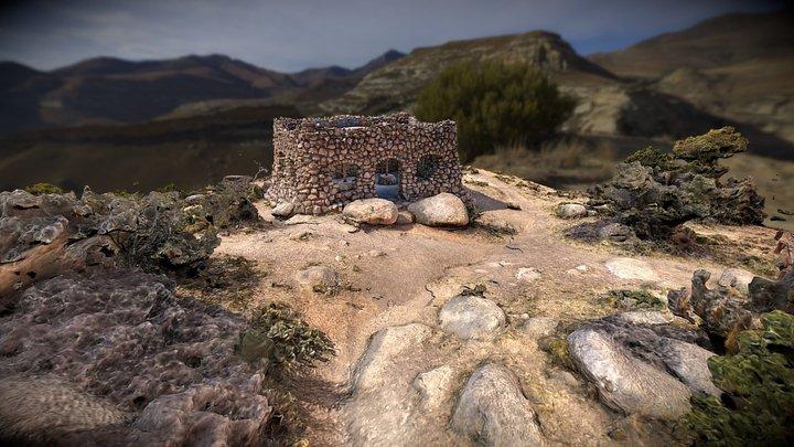 Rock House Picnic Shelter - Inside & Outside 3D Model