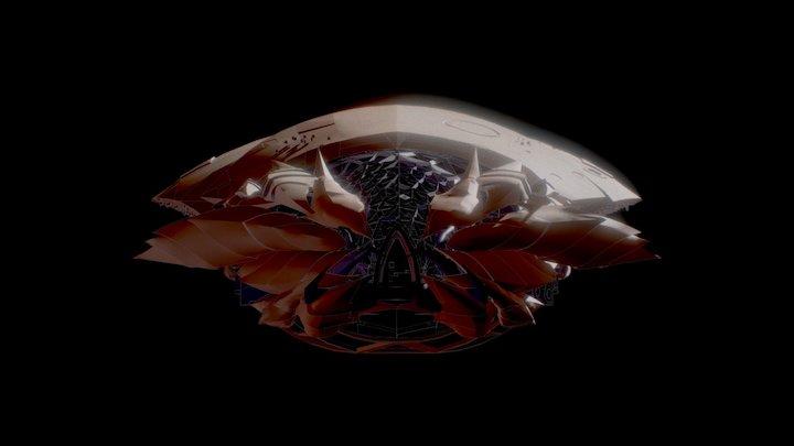 ESC alien ship out 3D Model