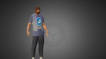 Sketchfab Man 3D Model