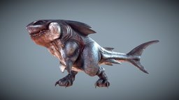Megalodon Rex (WIP#3) Animating 3D Model