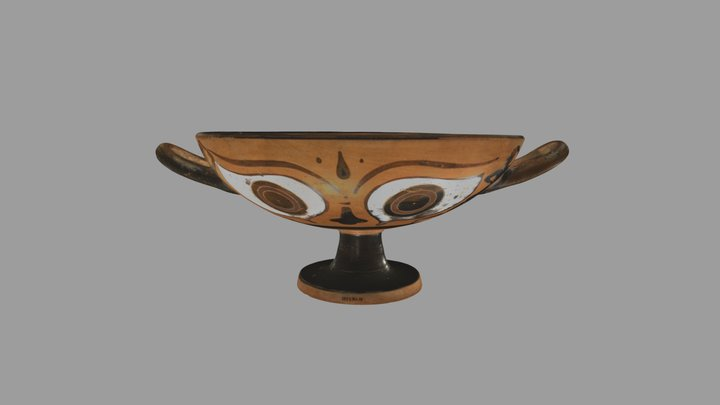 Kylix (drinking cup): Eye Cup 3D Model