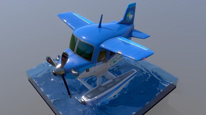 Animal Crossing Seaplane 3D Model
