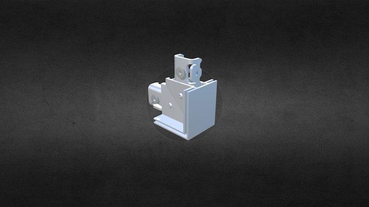Ref: 216 FH 2 01, FH 2 Way Connector Aluminum 3D Model