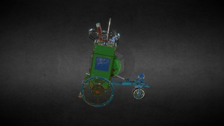 Gravity-propelled machine. 3D Model