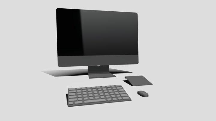 iMac looking Aio Computer (no brand) 3D Model