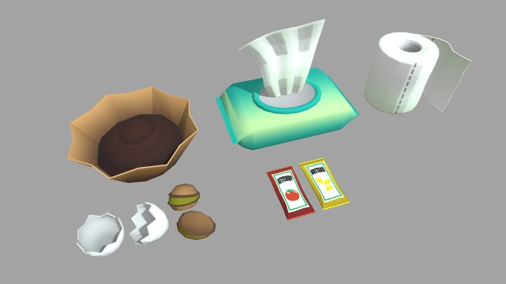 Trash Collection 3D Model