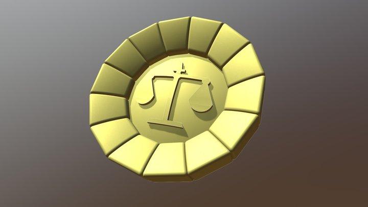 Phoenix Wright's Attorney Badge 3D Model
