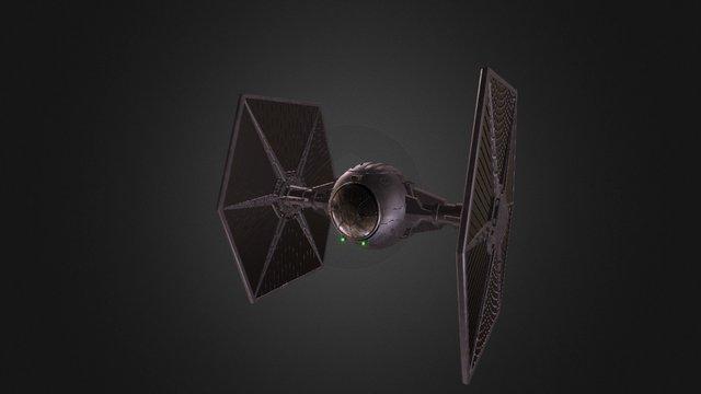 TIE-fighter - textured 3D Model