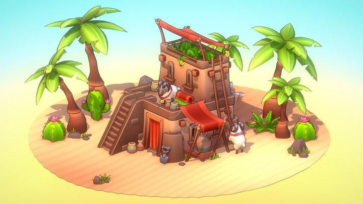 Gradient Desert 3D Model
