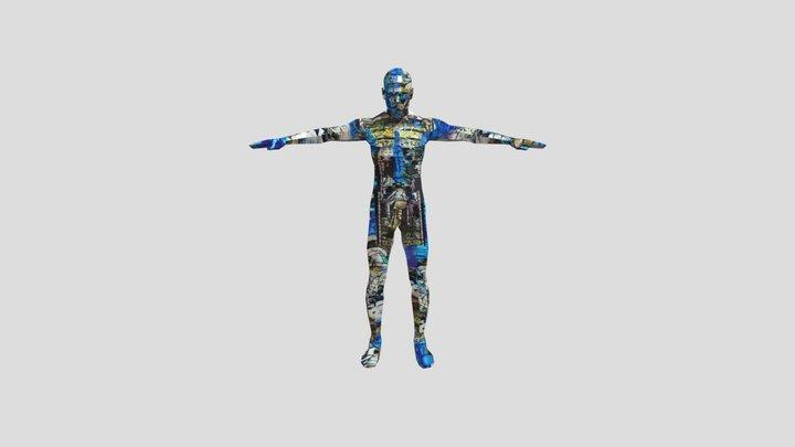 Digital Collage Figure 3D Model