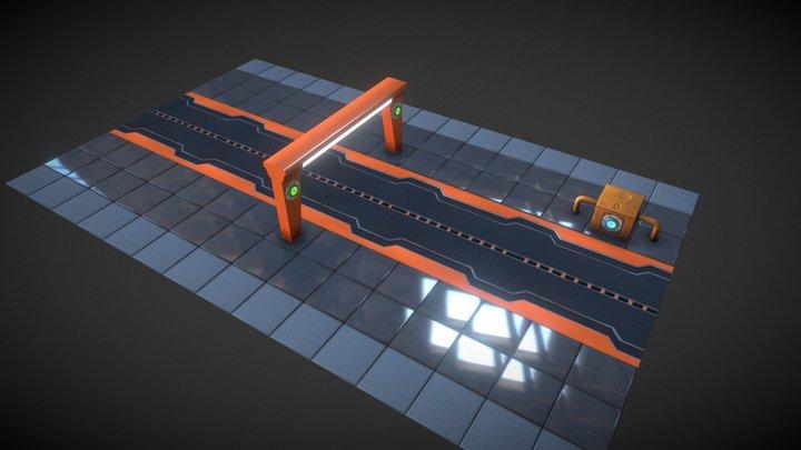Sci-Fi Road 3D Model