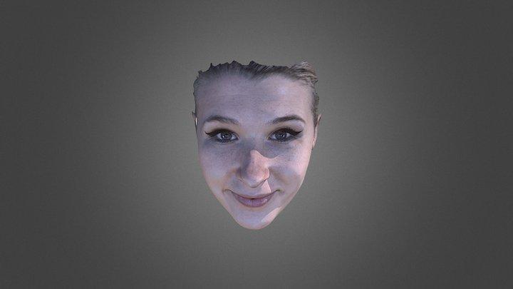3D Face scanner Facense Model 5: girl 3D Model