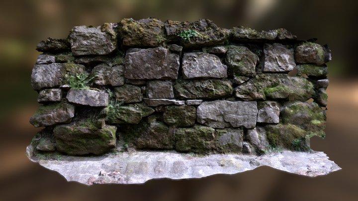 Sandstone wall woods Bonnevoie 3D Model