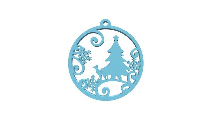 Christmas Ornament tree 3D Model