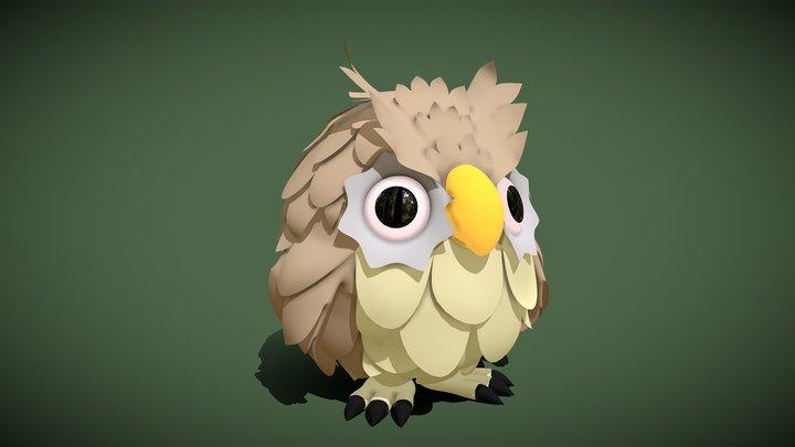 Owl (Toon) 3D Model