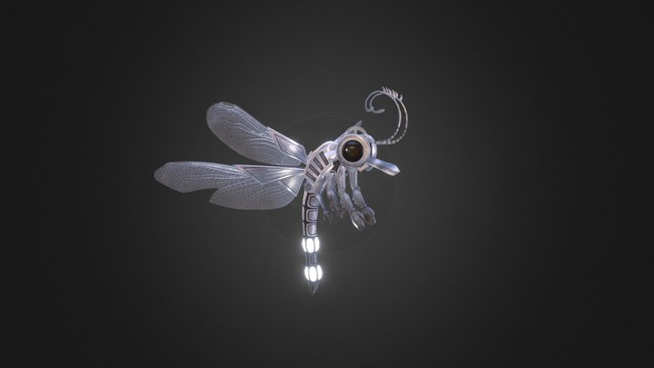 Mechanical Dragonfly 3D Model