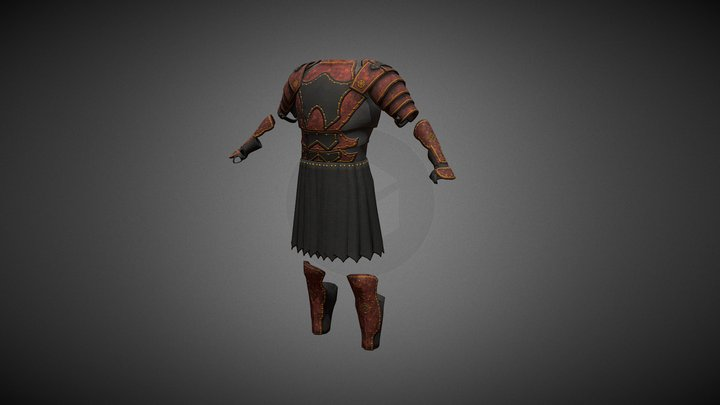 The Red Armor 3D Model