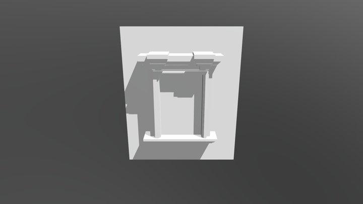 Barroque Window 3D Model