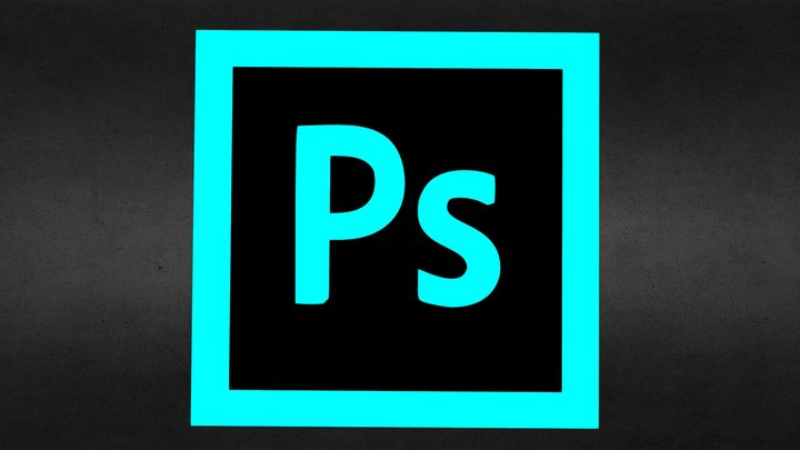 3D PhotoShop icon with secret 3D Model