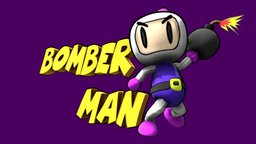 Bomberman logo 3D Model
