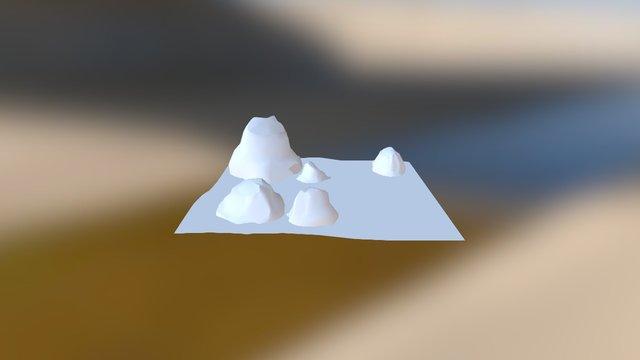 Endless Runner Background Environment 2 3D Model