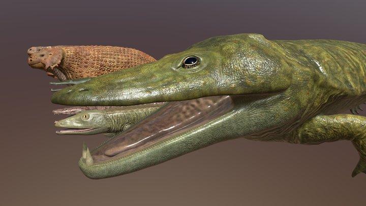 Extinct animals pack 3D Model