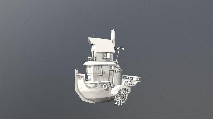 Little Steamboat (Clay) 3D Model