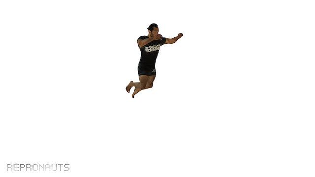 Jump Left90 High Mid01 3D Model