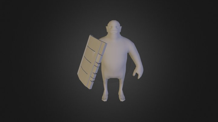 Goblin With Shield 3D Model
