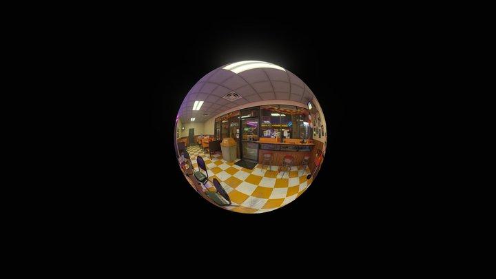 Pizza Arcade Spherical Render 3D Model