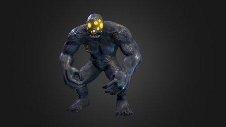 Gray Render Giant 3D Model