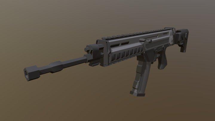 Low Poly CZ 805 BREN 3D Model
