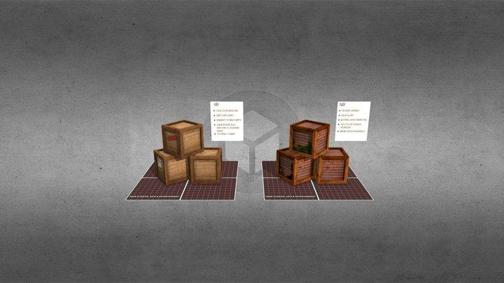 Texturing tips: Crate 3D Model