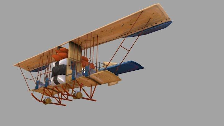 WW I Airplane Game Art 2017 3D Model