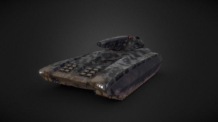 Sci-Fi Urban Tank 3D Model