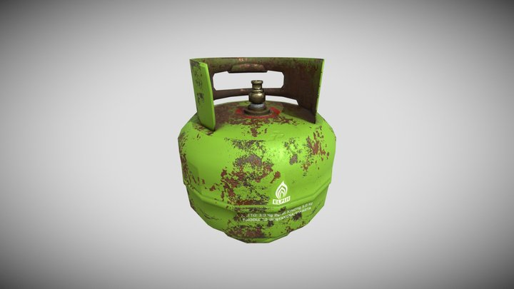 Tabung gas elpiji 3Kg 3D Model