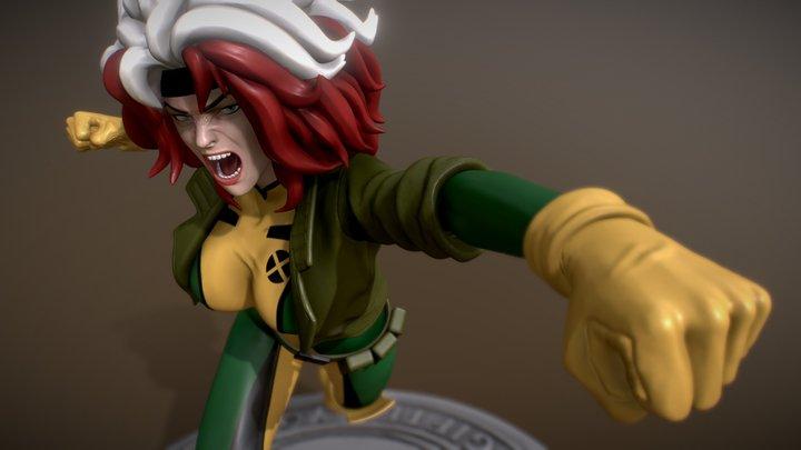 Rogue from X-men/Fanart/OBJ for download 3D Model