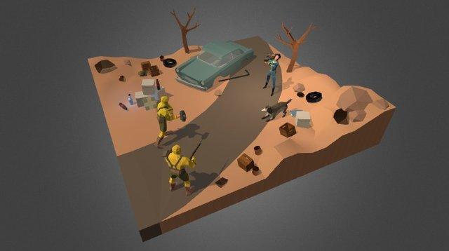 Fallout Diorama 3D Model