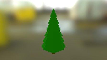 Simple Pine Tree 3D Model
