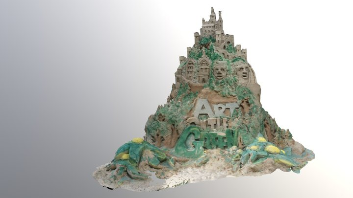 Art On The Green Sandcastle 2017 hiRes 3D Model