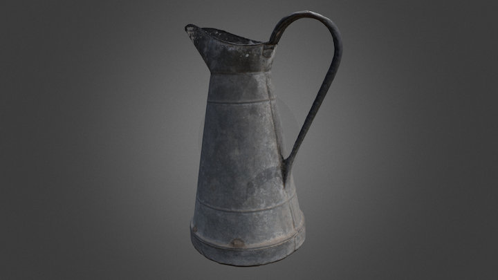 Tin pitcher 3D Model