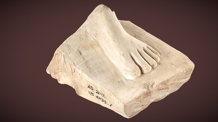Foot Carved in Limestone (Asasif 2018) 3D Model