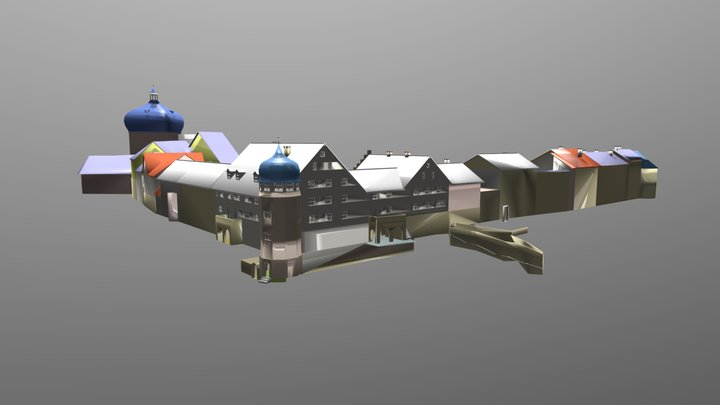 Oberstadt (Bregenz, Austria) 3D Model