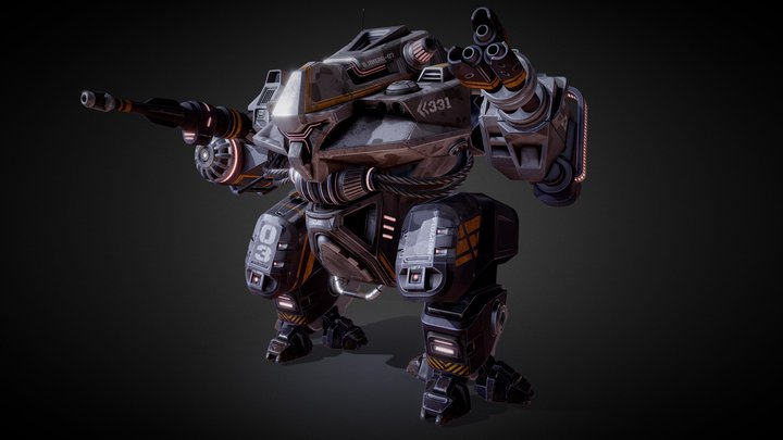 military Mech 3D Model