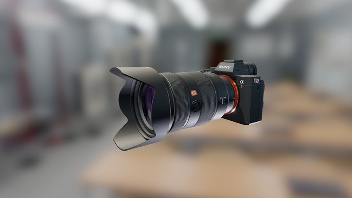 Sony ILCE-7RM3 Camera & SEL2470GM Lens 3D Model